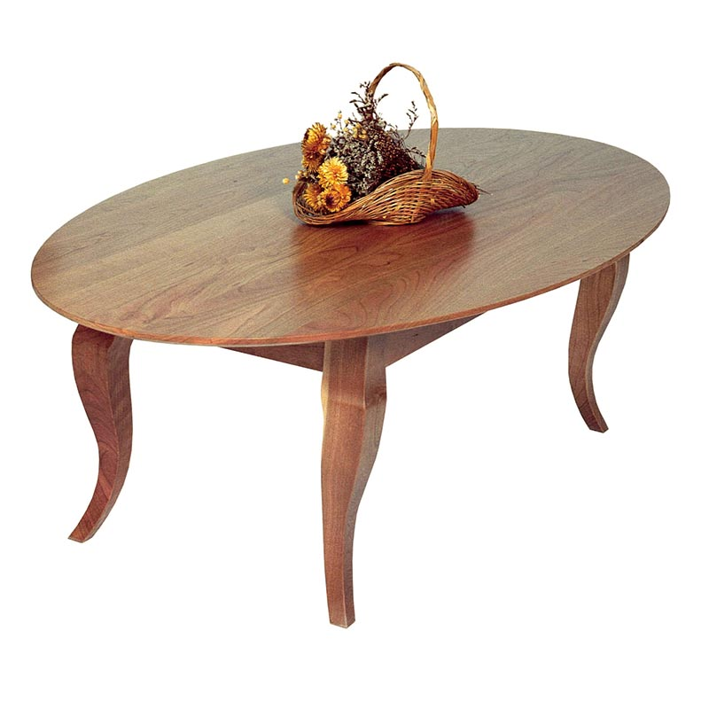 Oval Coffee Table Drawer