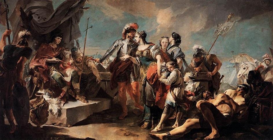 """Τοιχογραφία. Giovanni Batista Tapolo. """"Triumph του Αβεραλικού"""", 1718"""