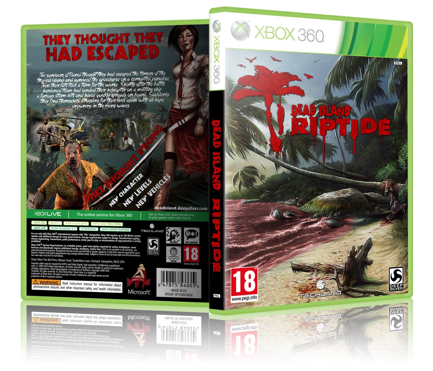 Dead Island Riptide Xbox 360 Box Art Cover By Langerz
