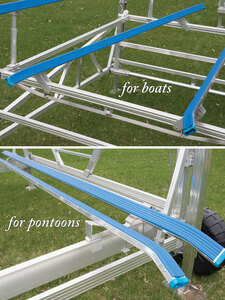 Long Bunks are available for both boats and pontoons.