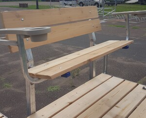 vibo marine cedar bench with arms 2
