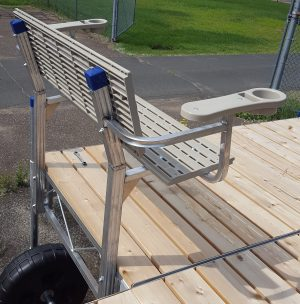 vibo marine titan bench with arms