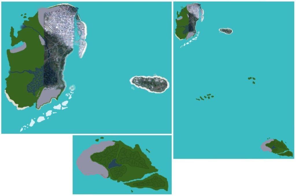 Outras imagens do suposto mapa vazado de Grand Theft Auto 6