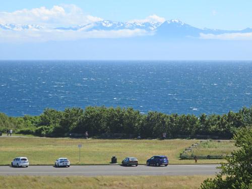 Olympic Mountains Across Juan De Fuca Strait From