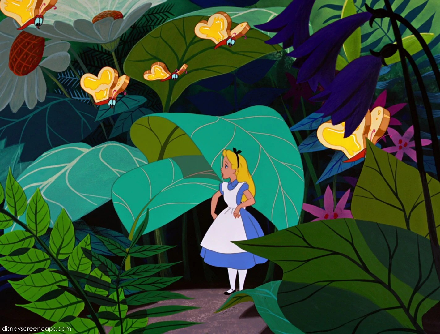 Alice Wonderland 1951 Disney Caps