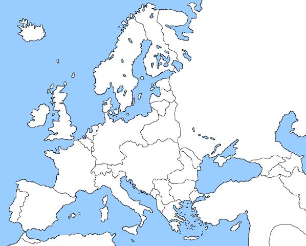 Grid Blank 1914 Map Europe