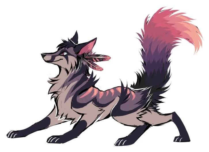 Animal Jam Base Wolf Art