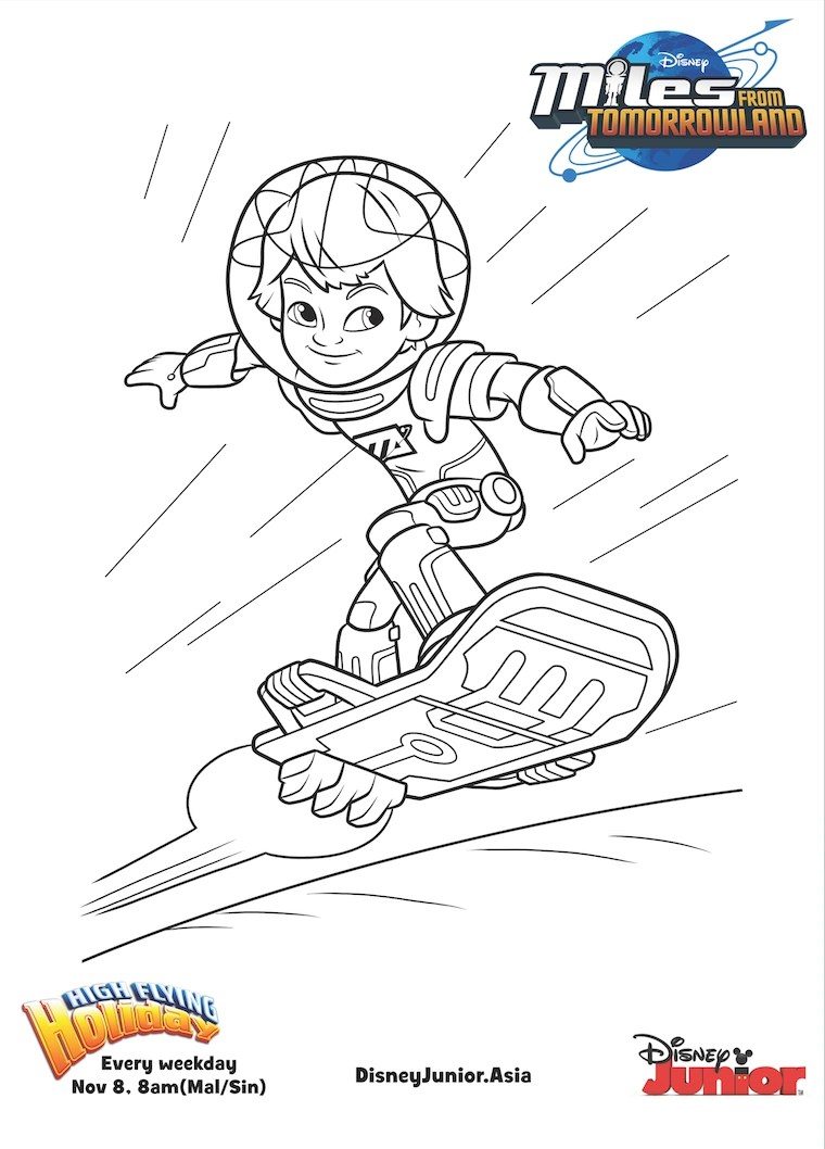 Image Miles From Tomorrowland Colouring Pages 4 Disney