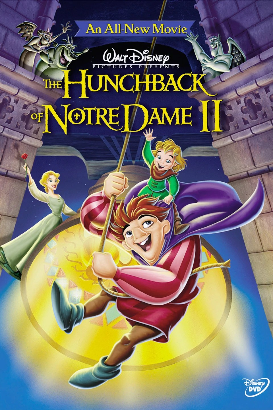 Dame White Notre And Hunchback Disney Black Logo