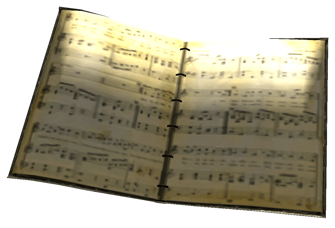 Sheet music book   Fallout Wiki   FANDOM powered by Wikia Sheet music book