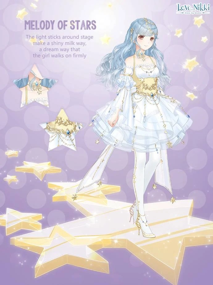 Melody stars love nikki dress queen wiki fandom, love color pages