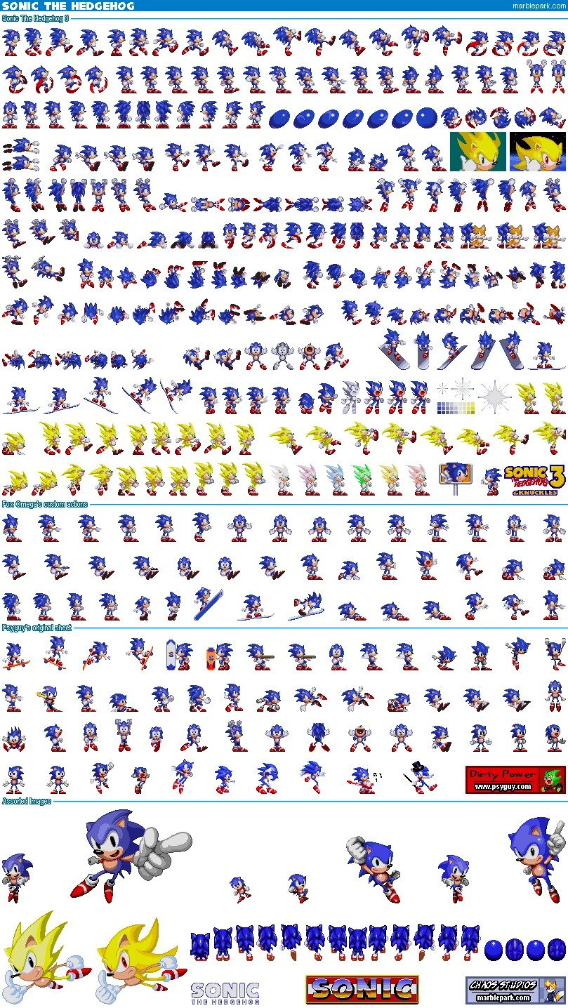 Sonic Ultimate Sprite Sheet
