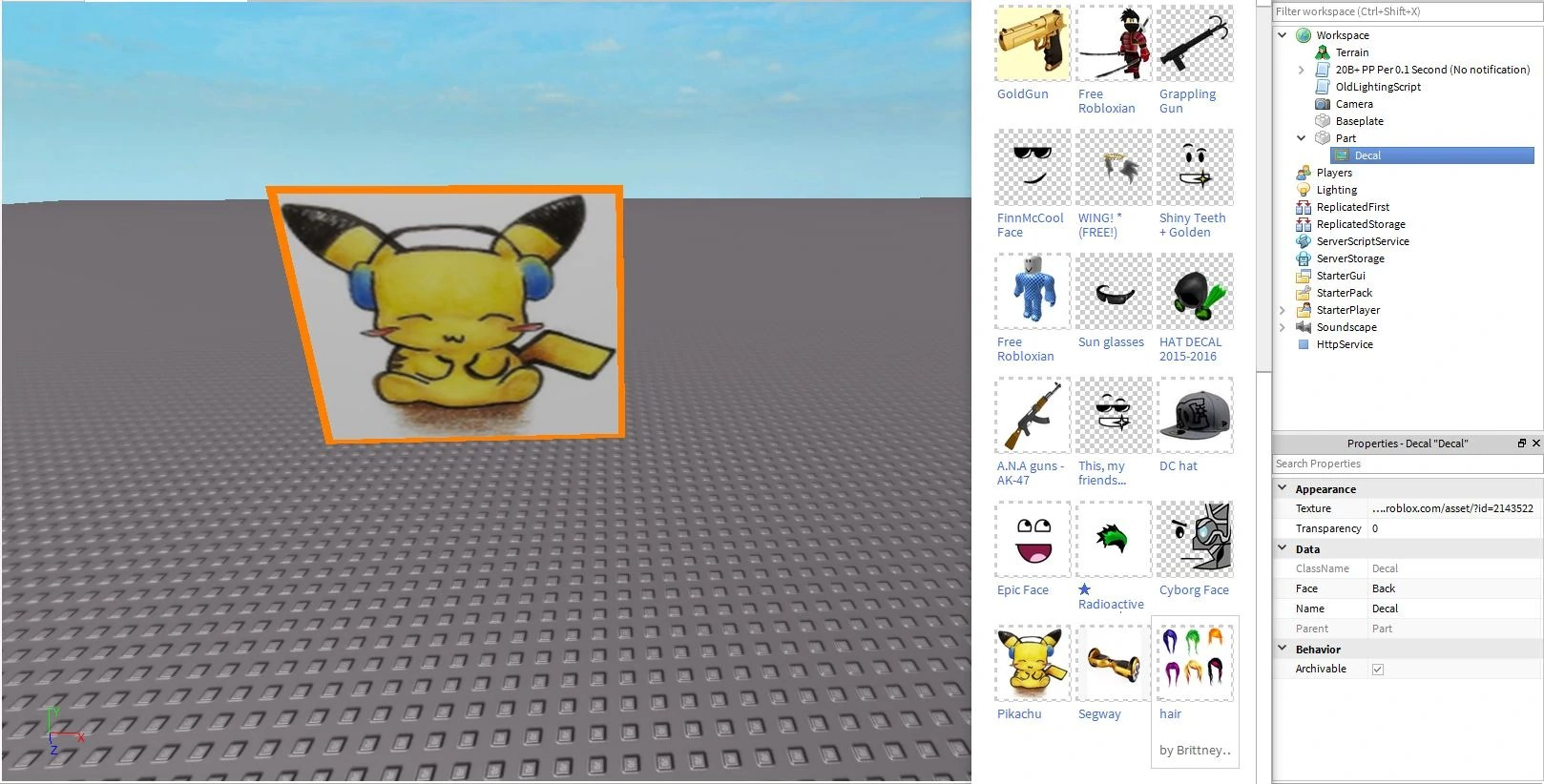Roblox Picture Identification Decals