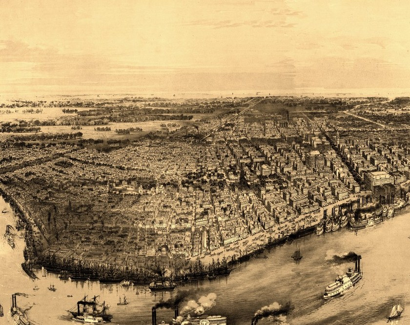 HD Decor Images » Vintage Map of New Orleans Louisiana 1885 Orleans Parish County     Historic Map of New Orleans Louisiana 1851 Orleans Parish County