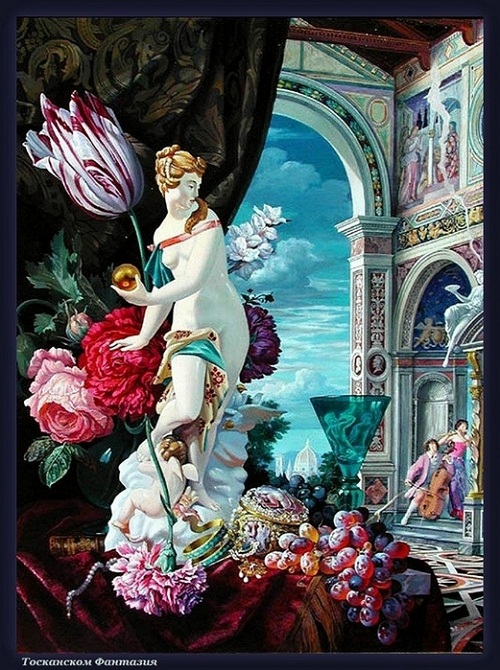 Beauty will save  Viola  Beauty in everything     Carnival in Venice paintings by Vladimir Ryabchikov