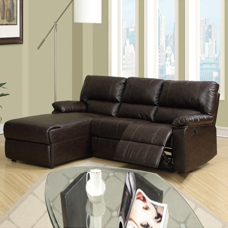 Small Leather Sectional Sofa Recliner