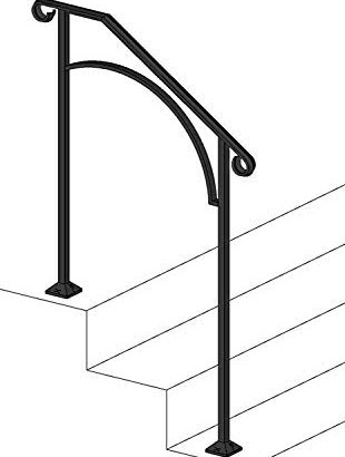 50 Outdoor Metal Stair Railing Kits You Ll Love In 2020 Visual Hunt   Outdoor Iron Railings For Steps   Outside   Aluminum   Wood Treads   Staircase   Custom