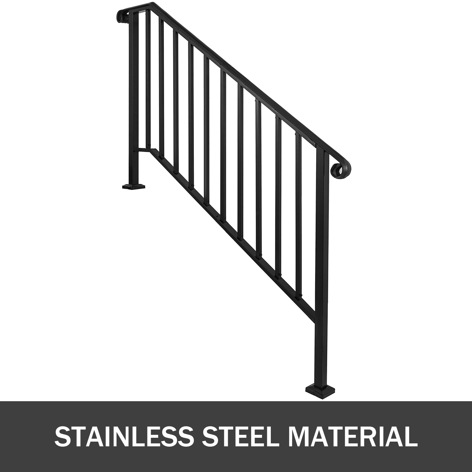 50 Outdoor Metal Stair Railing Kits You Ll Love In 2020 Visual Hunt | Metal Handrails For Stairs Exterior | Outdoor Stair | Simplified Building | Porch | Deck Railing | Handrail Ideas