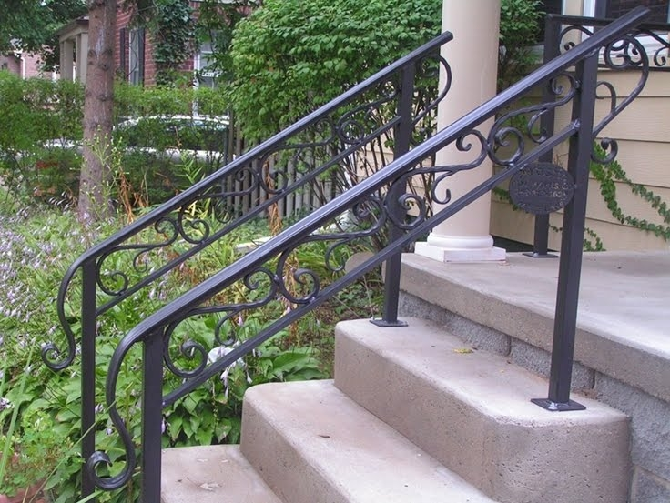 50 Outdoor Metal Stair Railing Kits You Ll Love In 2020 Visual Hunt | Outside Metal Stair Railing | Steel | Concrete | Steel Handrail | Porch | Outdoor Stair