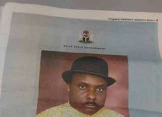James Ibori Newspaper