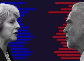 UK General elections - Theresa May - Jeremy Corbyn