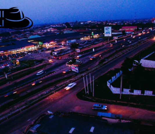 Aerial shot of Palms shopping Mall and Ring Road, Ibadan. Photo credit: Tolani Alli
