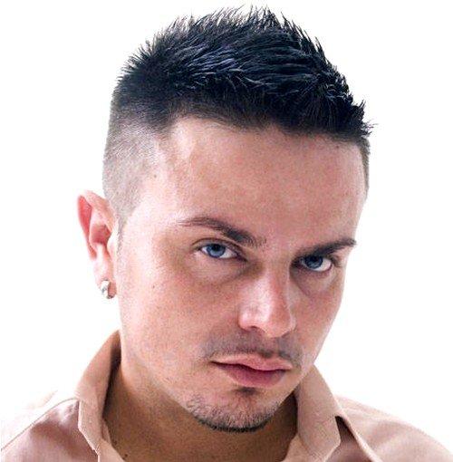 мужская стрижка густой жесткий волос
