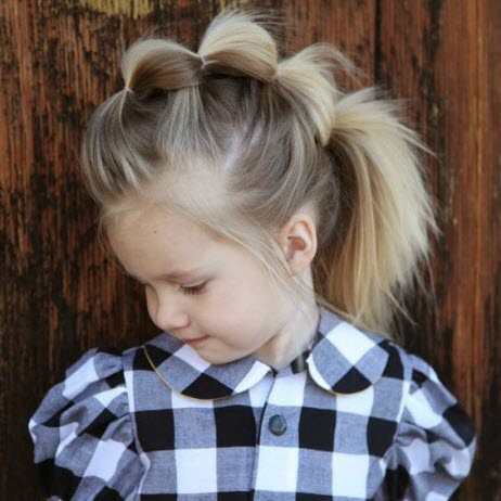 Interesting hairstyles for girls: photo