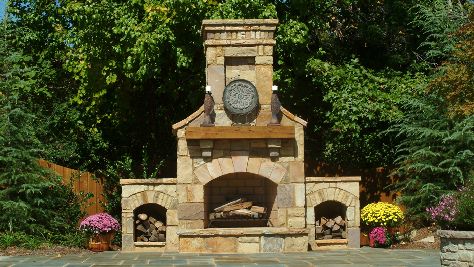 Wood Fireplaces Outside