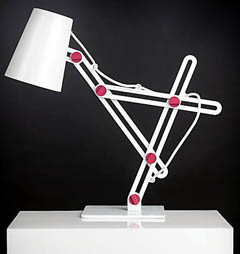 台灯在复杂的铰链上