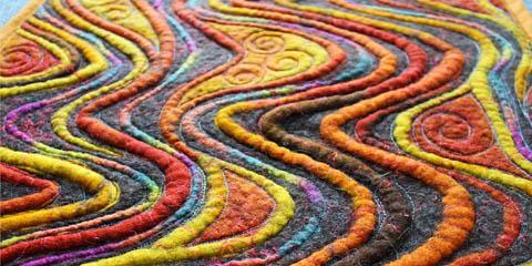 Массажный коврик для ног из войлока
