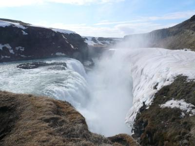 Gullfoss ou la Chute d'Or sur la rivière Hvítá en Islande ...