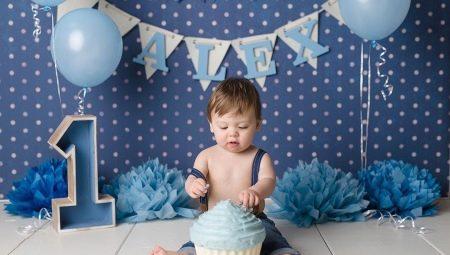 Варианты оформления дня рождения мальчика возрастом 1 год