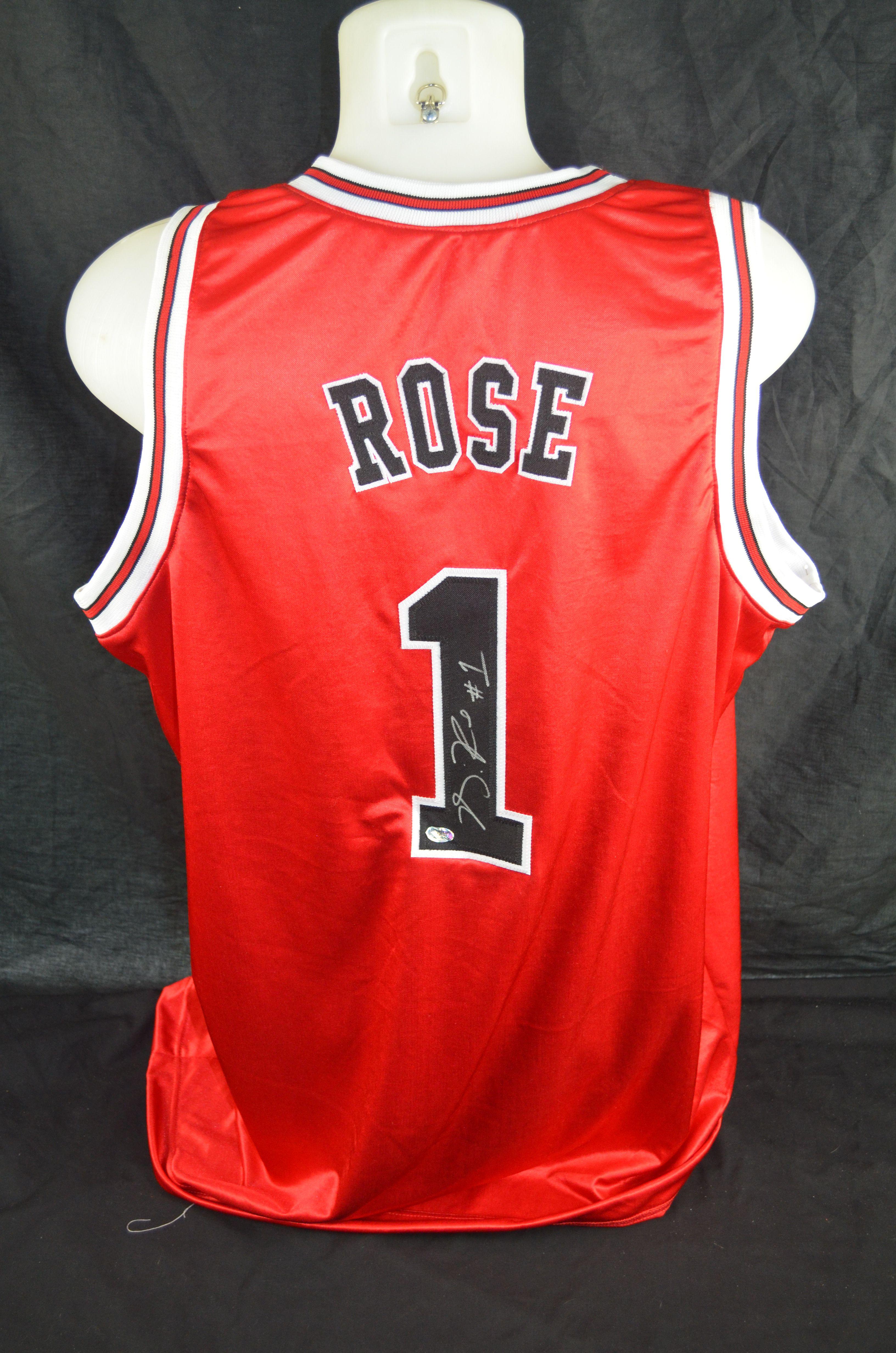 Lot Detail - Derrick Rose Chicago Bulls Autographed Jersey
