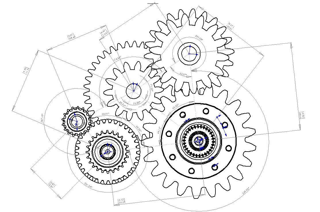 Gear orientations