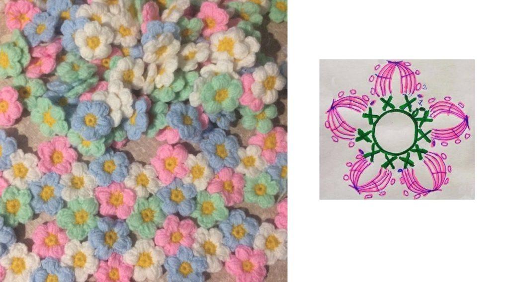 маленькие цветочки и схема