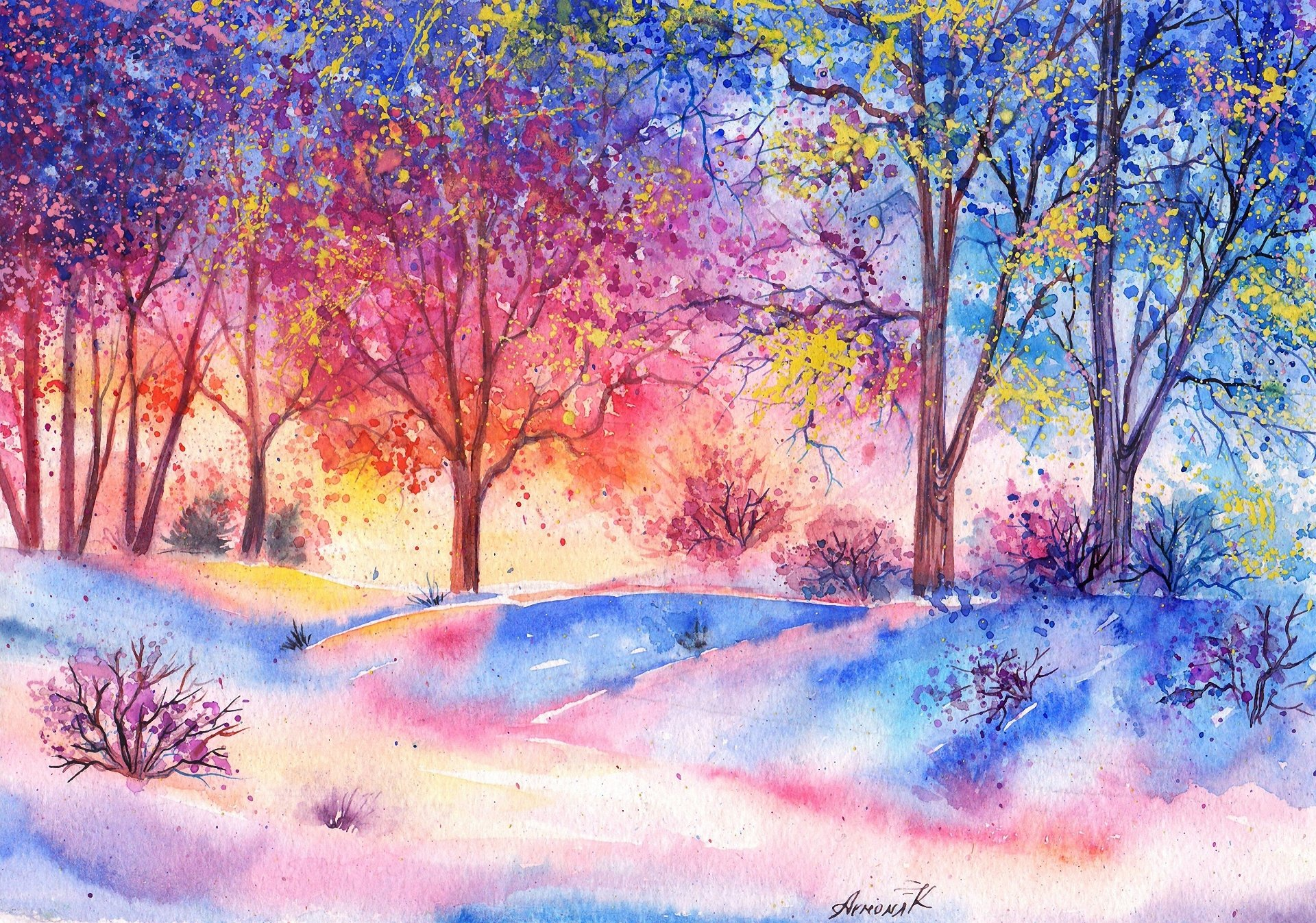 watercolor paintings images - HD1200×900