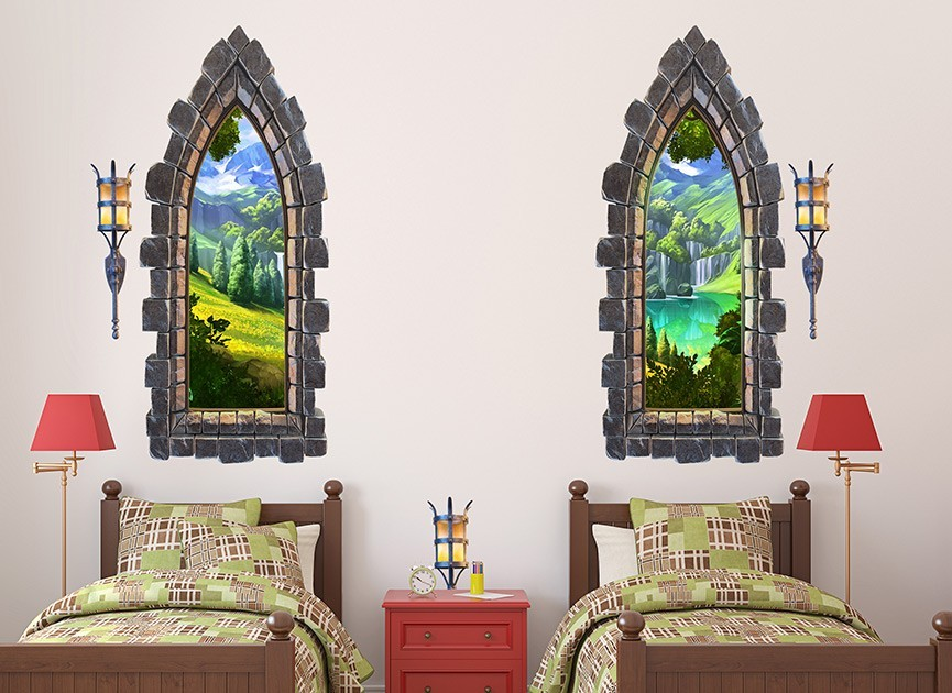 Wall Castle Decals Girls