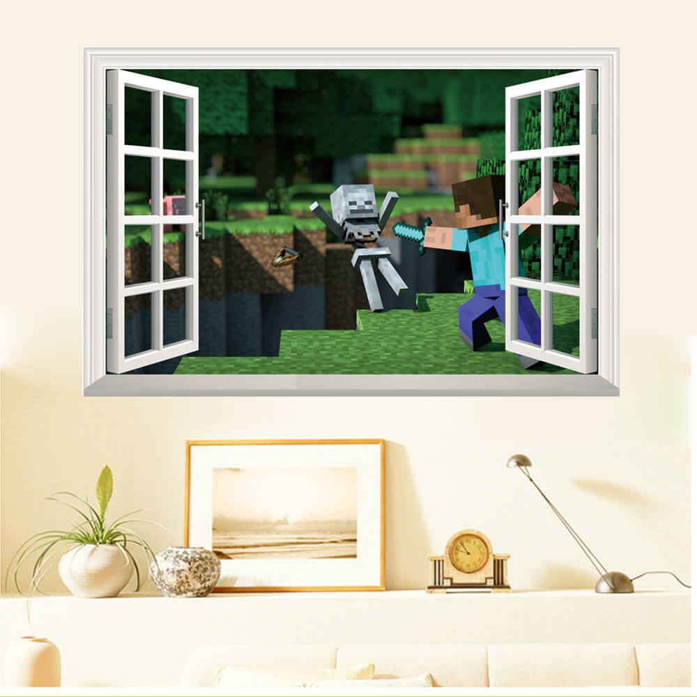 Minecraft Wall Stickers 3D Wall Decals Ireland Boys Room