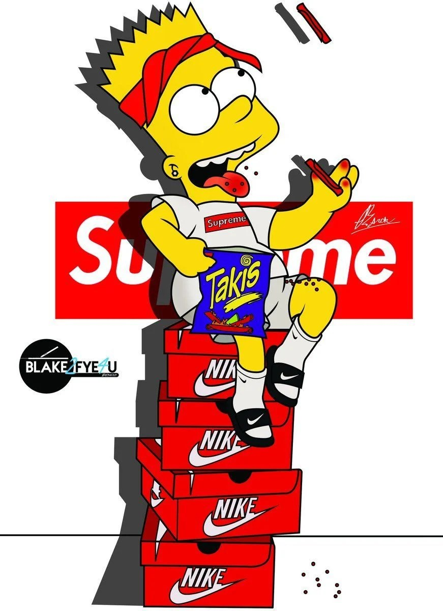 Simpson Pictures Bart Dope
