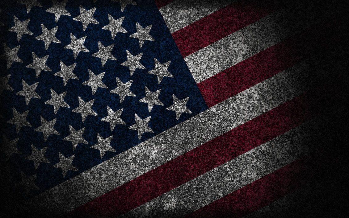 Distressed American Flag Wallpaper