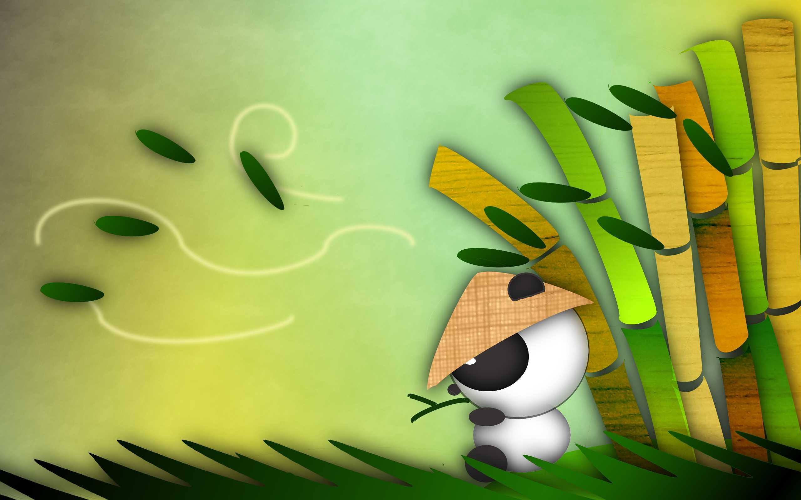 Panda Cartoon Desktop Background