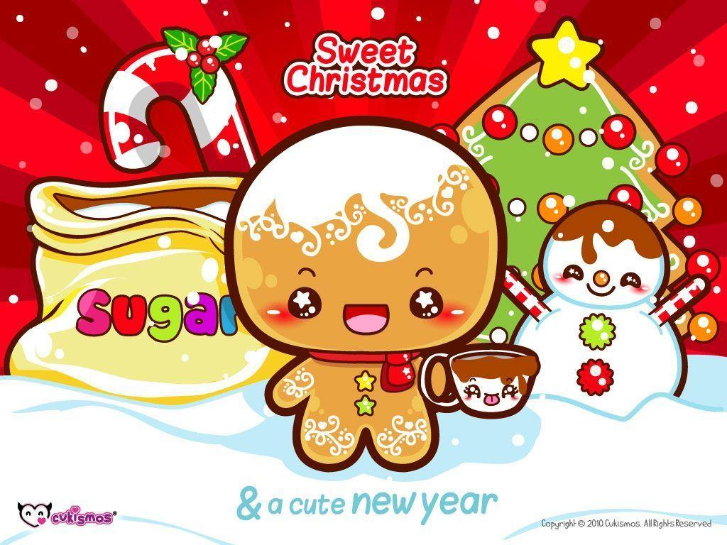 christmas screensavers and wallpapers cute gingerbread men
