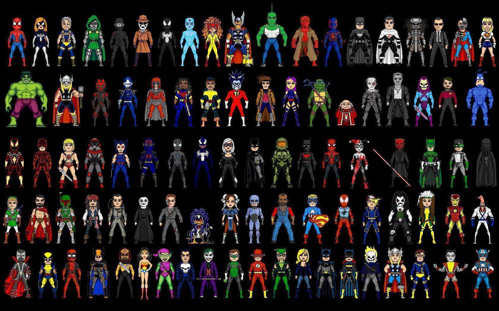 Dc Heroes And Marvel Super List