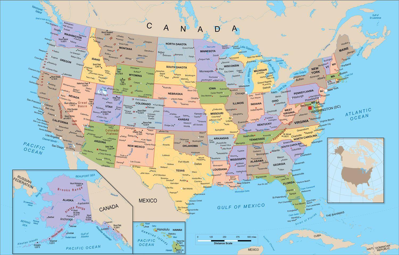 United States Map Desktop Wallpaper