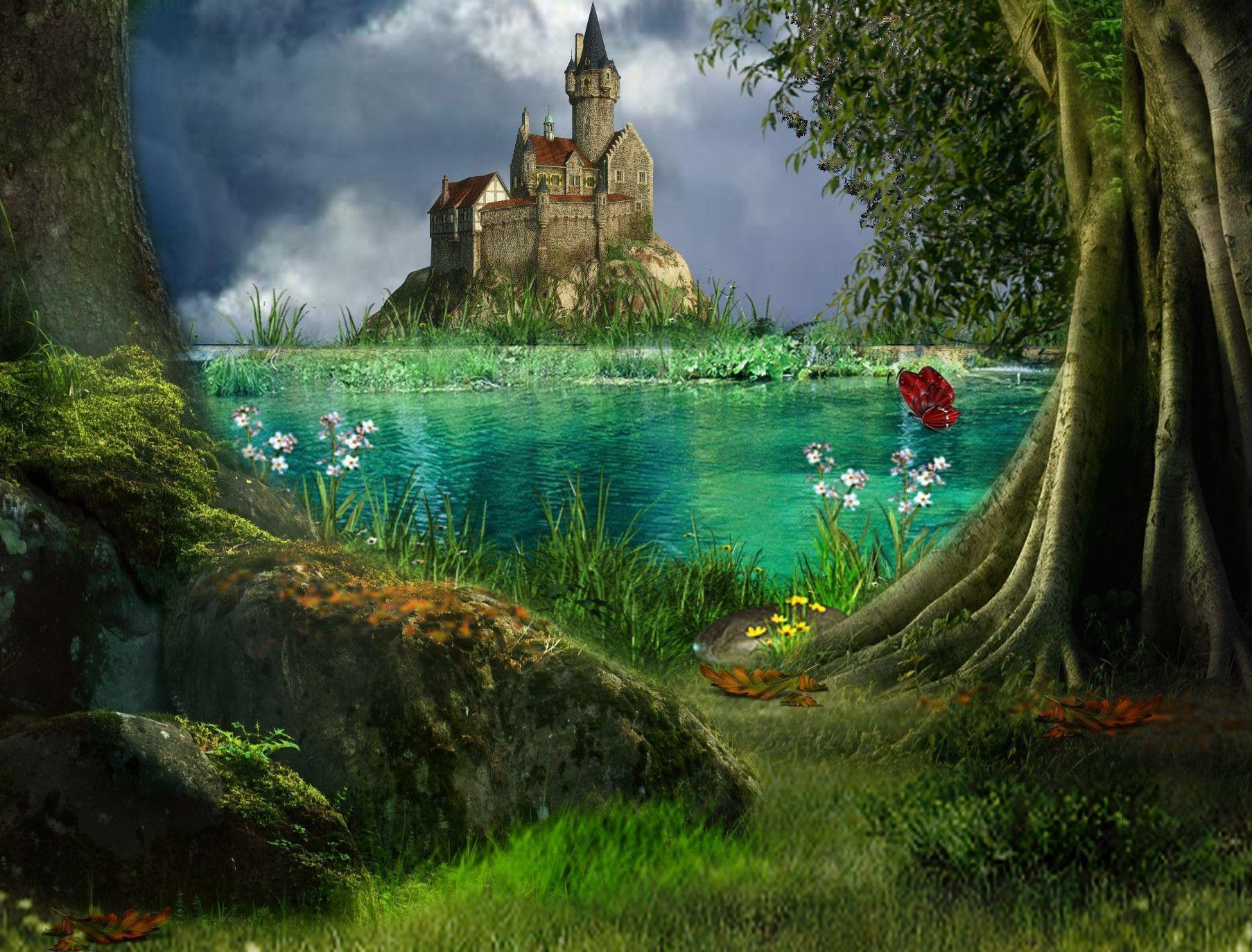 Enchanted Magical Forest Castle