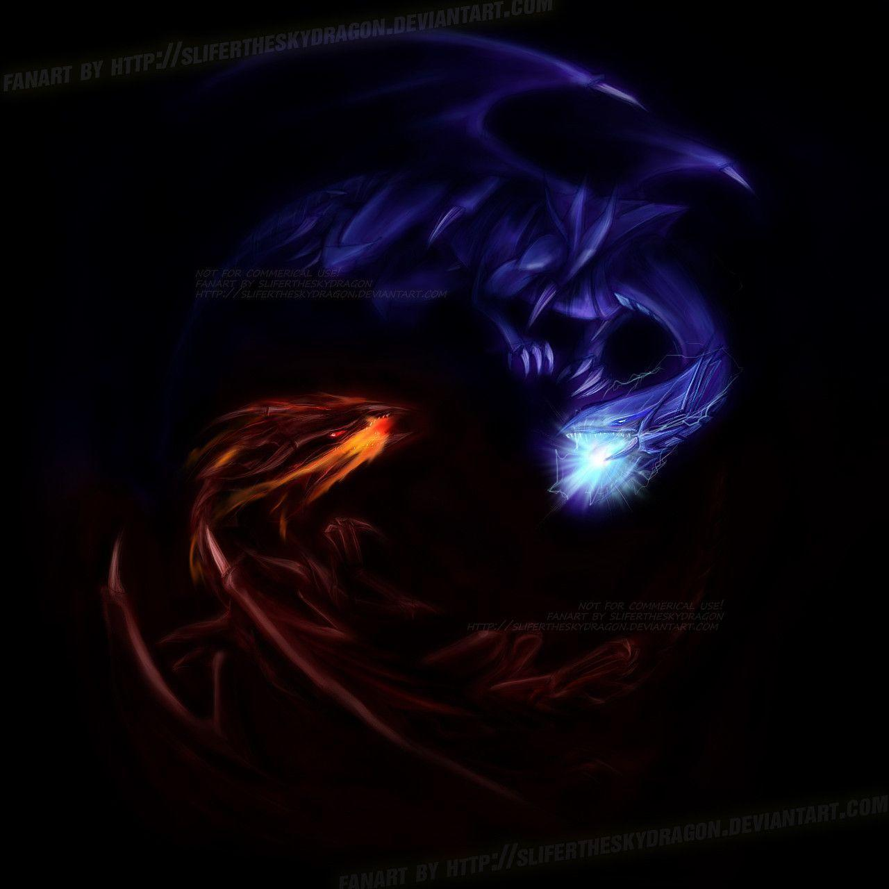 Oh White Black Dragon Gi Blue White Eyes Dragon And Black Vs Eyes Red Yu