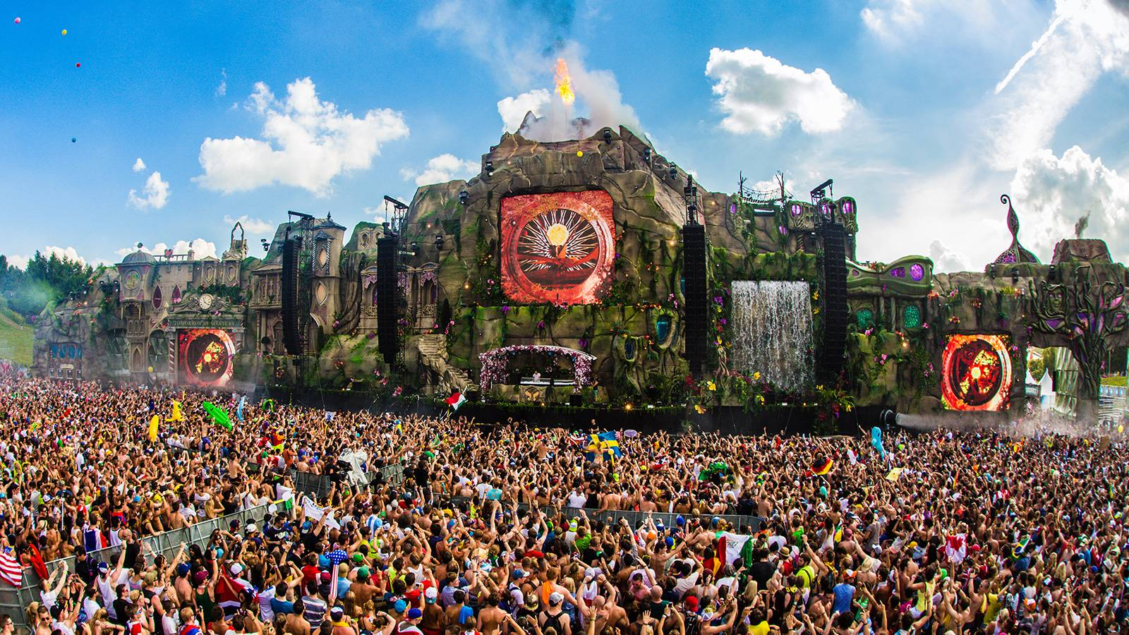 Tomorrowland 2015 Laser Show Hd Wallpapers Wallpaper Cave