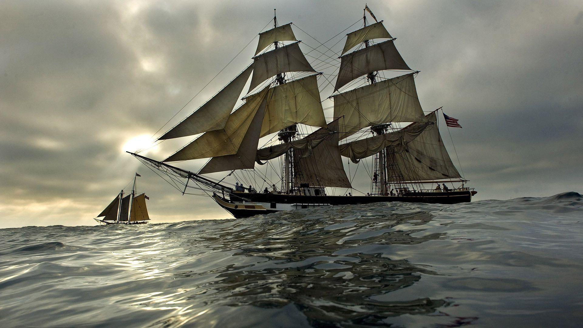 Pirate Schooner Wallpaper