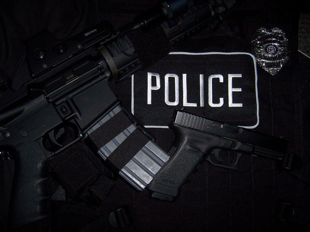 Police Black And Blue Wallpaper